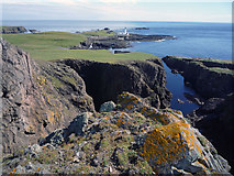 HZ1970 : Coastline of Fair Isle south from the side of Malcolm's Head by Julian Paren