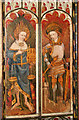 TG3421 : St Michael's church in Barton Turf - rood screen (detail) by Evelyn Simak