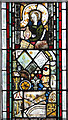 TG3421 : St Michael's church in Barton Turf - medieval glass by Evelyn Simak