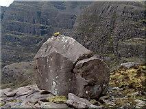 NG8145 : Massive boulder on Sron Coire an Fhamhair by Trevor Littlewood