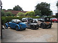 TQ4223 : Vintage Cars at The Griffin Inn by Oast House Archive