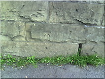 SE1537 : Benchmark on Low Well railway bridge by Roger Templeman