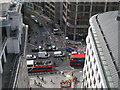 TQ3280 : King William Street from Monument Tower by Oast House Archive
