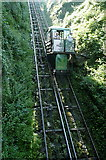 SS7249 : Lynmouth and Lynton cliff railway by Graham Horn