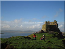 NU1341 : Lindisfarne Castle by Trevor Harris