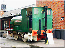 SO8218 : Locomotive outside the National Waterways Museum, Gloucester by Brian Robert Marshall