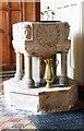 TM1178 : St Peter, Palgrave, Suffolk - Font by John Salmon