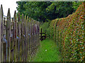 NZ4615 : Footpath adjacent to Stainsby Hall Farm by Graham Scarborough