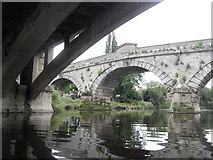 SJ5409 : The Old Bridge from Under The New Bridge - Atcham by Anthony Parkes