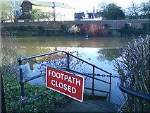 SJ9222 : OK, I won't bother then!! Flooded park, Stafford by Liz Taylor