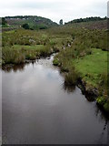 SK2773 : Brook in moorland, nr. Baslow, Derbyshire by Graham Hogg