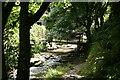 SX0789 : Tintagel: footbridge in Rocky Valley by Martin Bodman