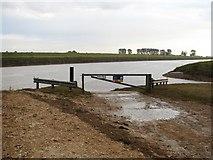 TF3132 : Slipway at Fosdyke Bridge by Ian Paterson