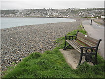 SW4629 : Seat on the seafront by Philip Halling