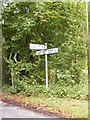 TM4064 : Roadsign on Clay Hills by Adrian Cable