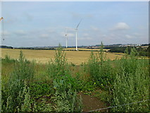 SK5758 : Wind turbines off Blidworth Lane by James Hill