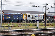 SE5703 : 08754 and 08875 in the Sidings at Doncaster by Ashley Dace