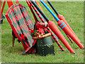 TQ4844 : Hever Castle, Jousting equipment by Alan Hunt