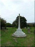 TM4160 : St Mary Magdalene, Friston: war memorial in the churchyard by Basher Eyre
