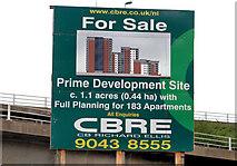 J3475 : Apartments site, Belfast (2) by Albert Bridge