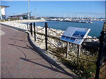 SY6874 : Footpath, Portland Marina, Dorset by Christine Matthews