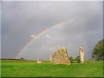 SU1070 : Rainbow over the Cove at Avebury by Anne Patterson
