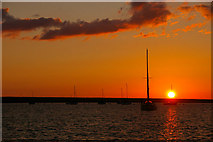 SY6774 : Sunset at Portland Marina, Portland, Dorset by Christine Matthews