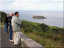 D0644 : Tourists enjoying the view near Carrick-a-rede by Kenneth  Allen