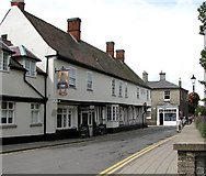 TL8683 : The Bell Hotel, Thetford by Evelyn Simak