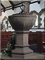 NY7064 : The Church of the Holy Cross, Haltwhistle - font (2) by Mike Quinn