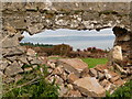 SS1495 : Caldey Island: view through a hole in the wall by Chris Downer