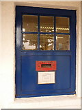 SS1496 : Caldey Island: postbox in post office wall by Chris Downer