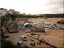 SN1300 : Tenby: the harbour and North Beach by Chris Downer