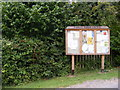 TM3060 : Parham Village Notice Board by Adrian Cable