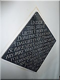 TM3669 : St Peter, Sibton- floor memorial (5) by Basher Eyre