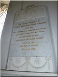 TM3669 : St Peter, Sibton- memorial (6) by Basher Eyre
