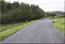 SX6870 : Road beside Venford Reservoir by Andrew Hackney