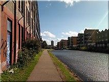 TQ3681 : View towards Johnson's Lock by Robert Lamb