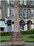 NS2982 : Celtic cross in Colqhoun Square by Thomas Nugent