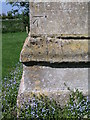 TF5061 : Cut bench mark with bolt on Croft church by Brian Westlake