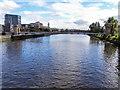 NS5864 : River Clyde, South Portland Street Suspension Bridge by David Dixon