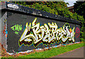 J3470 : Graffiti, Lagan towpath, Belfast (August 2010) by Albert Bridge