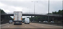 TQ2253 : M25: footbridge between junctions 9 and 8 by N Chadwick