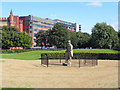 NS6064 : Glasgow Green Sculpture Garden, James Watt Statue by David Dixon