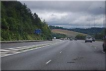 TQ2652 : M25 descending Reigate Hill by N Chadwick