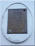 NT2573 : Greyfriars Bobby plaque, Forrest Road by kim traynor