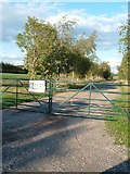 SU5404 : Entrance to the pick your own farm. by Margaret Sutton