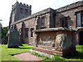 NY7913 : Tomb of the Waltons of Hilbeck, St Michael's Church, Brough by Karl and Ali