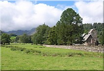 NY3916 : By the church at Patterdale by Derek Harper