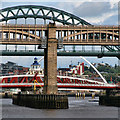 NZ2563 : Bridges over the Tyne by Peter McDermott